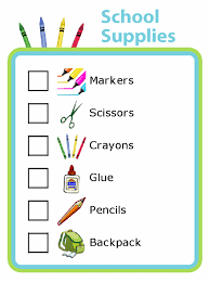 Portland School Supply List