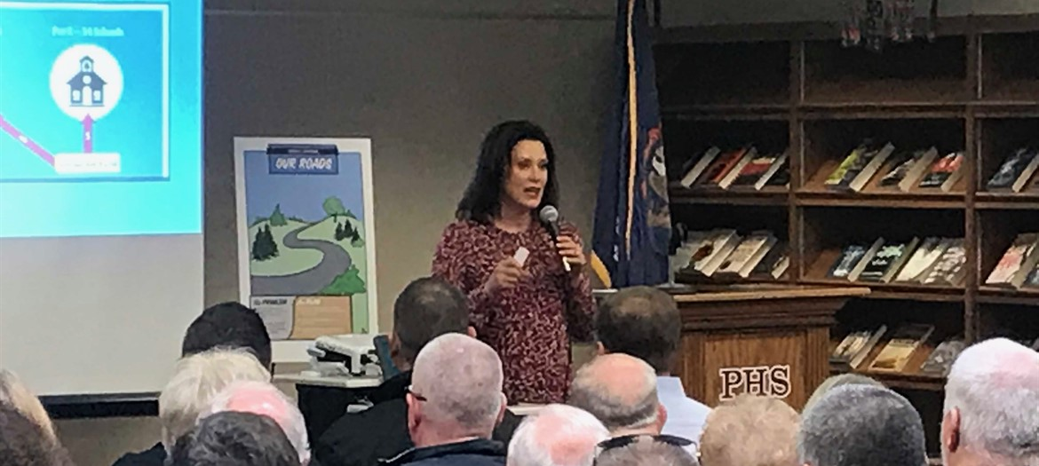 Governor Whitmer's Town Hall Meeting at Portland High School
